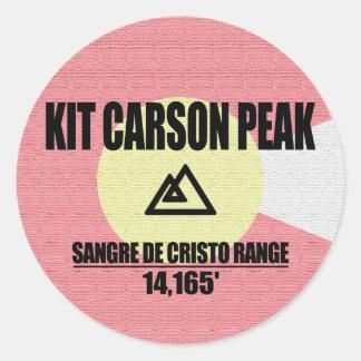 Adesivo Redondo Pico de Kit Carson