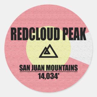 Adesivo Redondo Pico de Redcloud