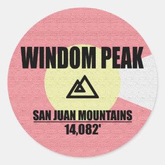 Adesivo Redondo Pico de Windom