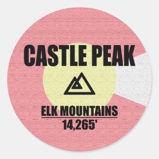 Adesivo Redondo Pico do castelo
