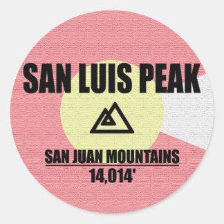 Adesivo Redondo Pico do San Luis