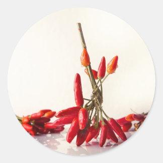 Adesivo Redondo Pimentas de pimentão