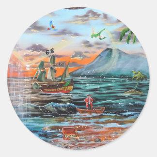 Adesivo Redondo Pintura de Bell do funileiro da angra do gancho de