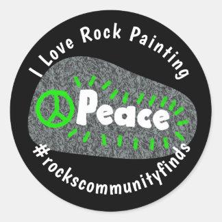 Adesivo Redondo Pintura Hashtag personalizado a comunidade da