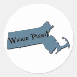 Adesivo Redondo Pissa mau Massachusetts