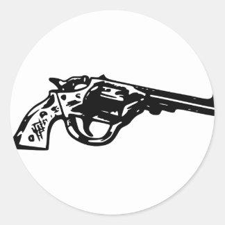 Adesivo Redondo Pistola do revólver
