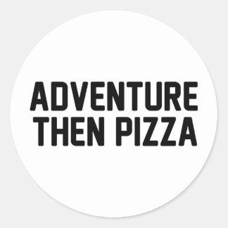 Adesivo Redondo Pizza da aventura então