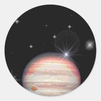 Adesivo Redondo Planeta Jupiter