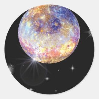 Adesivo Redondo Planeta Mercury Infared
