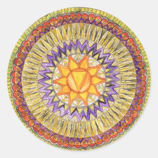 Adesivo Redondo Plexo solar Chakra
