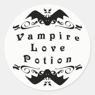 Adesivo Redondo Poção de amor o Dia das Bruxas do vampiro