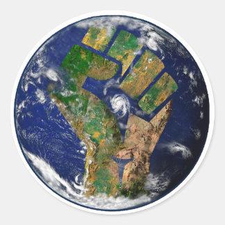 Adesivo Redondo Poder ambiental