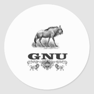 Adesivo Redondo poder do gnu