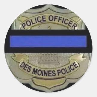 Adesivo Redondo Polícia de Des Moines