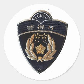 Adesivo Redondo Polícia de Tokyo