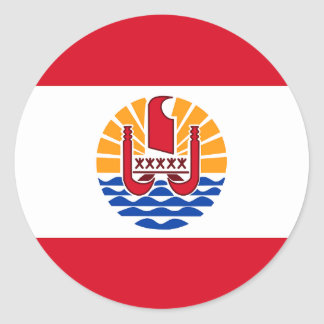 Adesivo Redondo Polinésia francesa, bandeira