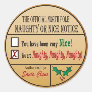 Adesivo Redondo Pólo Norte oficial impertinente ou agradável