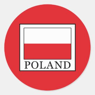Adesivo Redondo Polônia