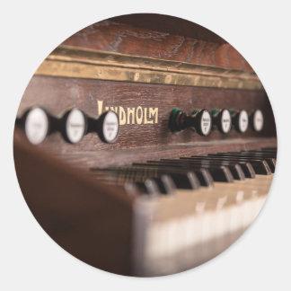 Adesivo Redondo Polônia antigo velho da música do instrumento do