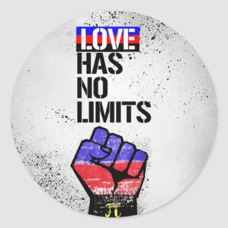 Adesivo Redondo Polyamory - amor não tem nenhum limite - -