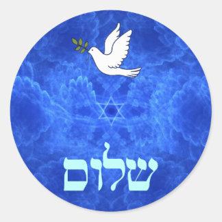 Adesivo Redondo Pomba - Shalom