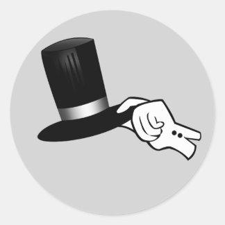 Adesivo Redondo Ponta do chapéu do cavalheiro