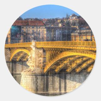 Adesivo Redondo Ponte Budapest de Margaret