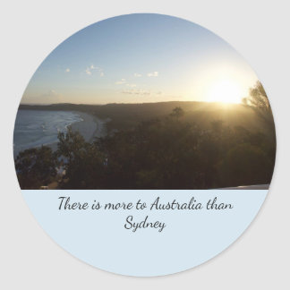 Adesivo Redondo Por do sol de Austrália