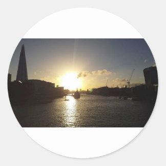 Adesivo Redondo Por do sol de Londres