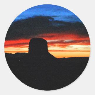 Adesivo Redondo Por do sol, vale do monumento, UT