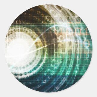 Adesivo Redondo Portal futurista da tecnologia com Digitas