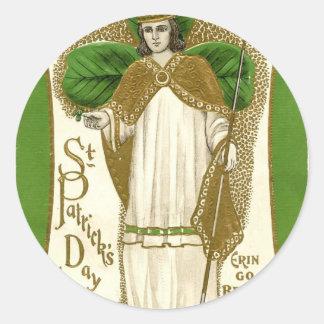 Adesivo Redondo Poster velho bonito de patrick de santo
