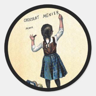 Adesivo Redondo Pouca menina de Menier Chocolat