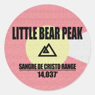 Adesivo Redondo Pouco pico do urso