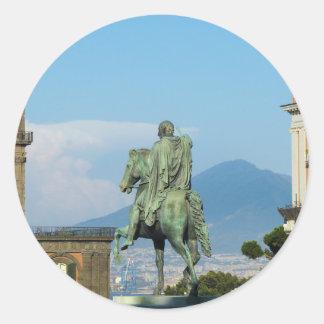 Adesivo Redondo Praça del Plebiscito, Nápoles