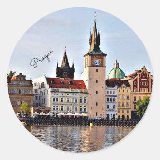 Adesivo Redondo Praga, república checa