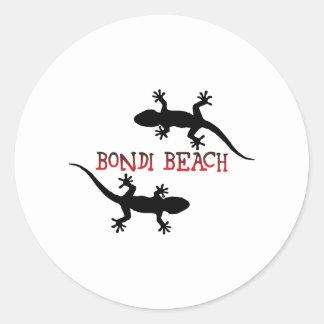 Adesivo Redondo Praia Austrália de Bondi