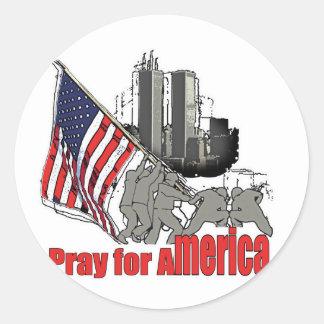 Adesivo Redondo Pray para América