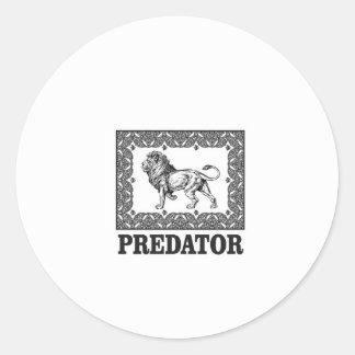 Adesivo Redondo Predador o leão