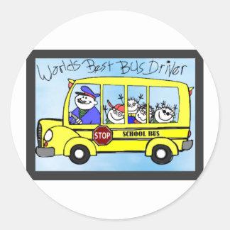 Adesivo Redondo Presentes da apreciação do condutor de autocarro