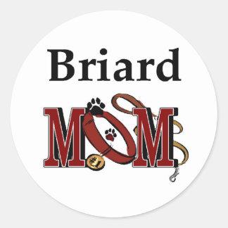 Adesivo Redondo Presentes da mamã de Briard