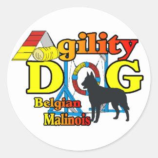 Adesivo Redondo Presentes de Malinois do belga da agilidade