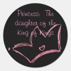 Adesivo Redondo Princesa:  A filha do rei dos reis