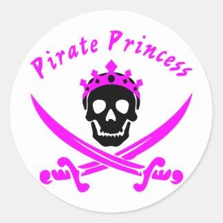 Adesivo Redondo Princesa do pirata