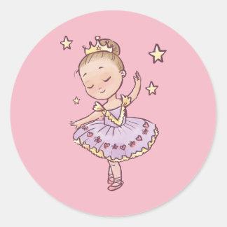 Adesivo Redondo Princesa pequena Bailarina