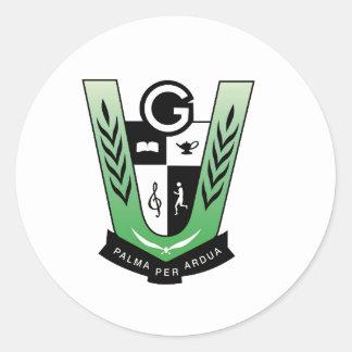 Adesivo Redondo Produtos da crista da reunião dos alunos de GGMSS