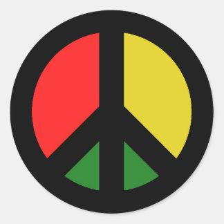 Adesivo Redondo Proibição de Rasta o símbolo de paz da bomba CND