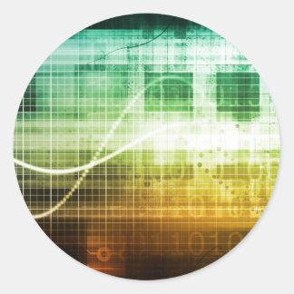 Adesivo Redondo Protecção de dados e exploração da segurança do