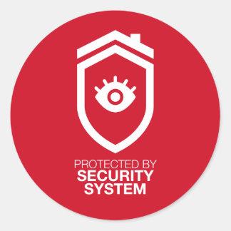 Adesivo Redondo Protegido pelo sistema de segurança