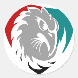 Adesivo Redondo Protetor da protecção de segurança do falcão